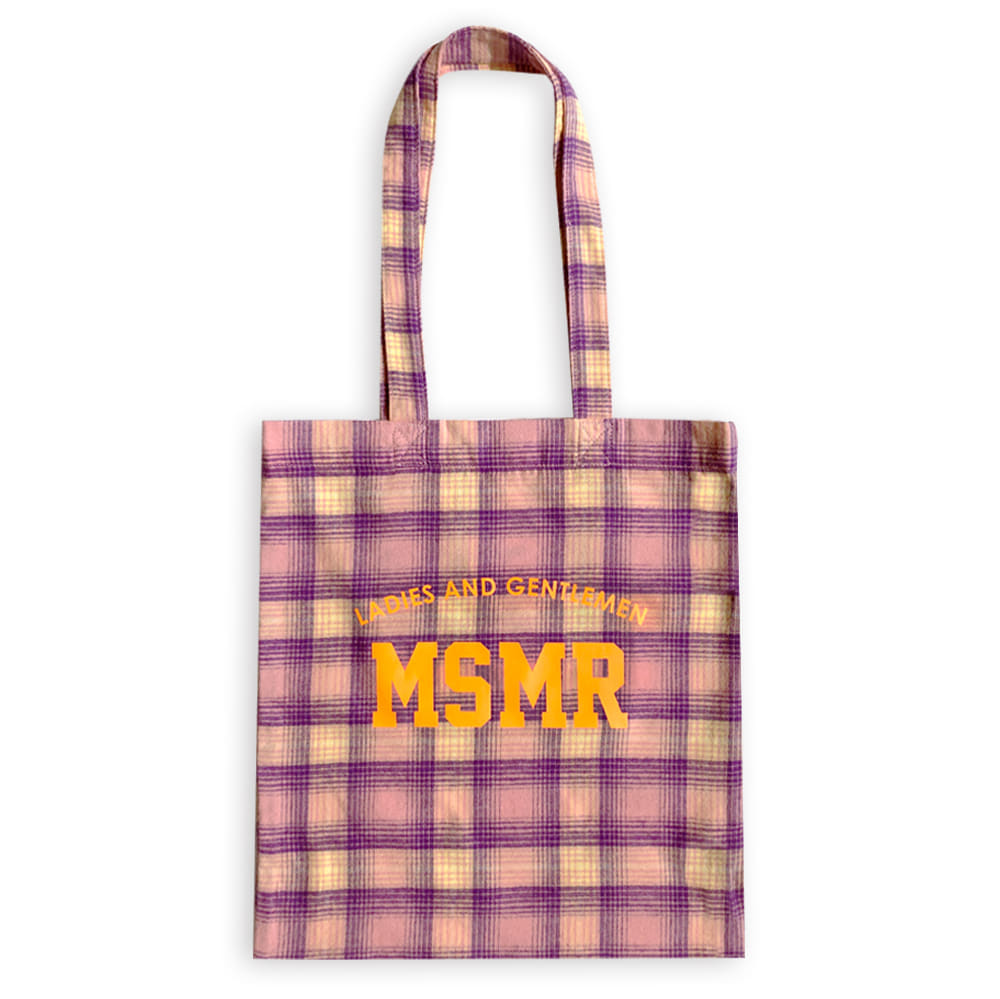MSMR Check Eco Bag Yellow