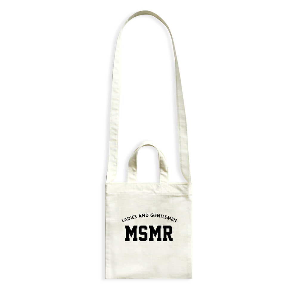 MSMR Minimini Cross Bag Ivory Black Logo