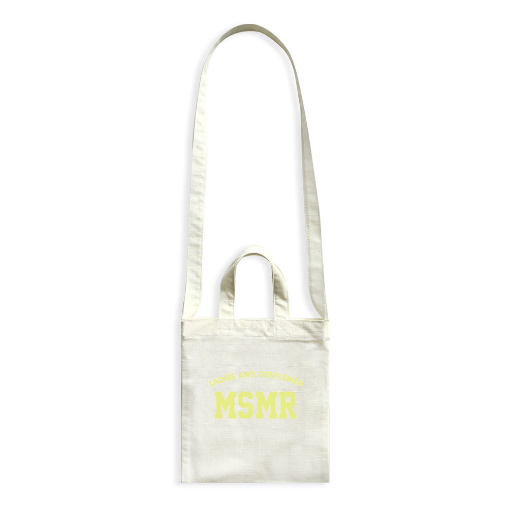 MSMR Minimini Cross Bag Ivory Yellow Logo