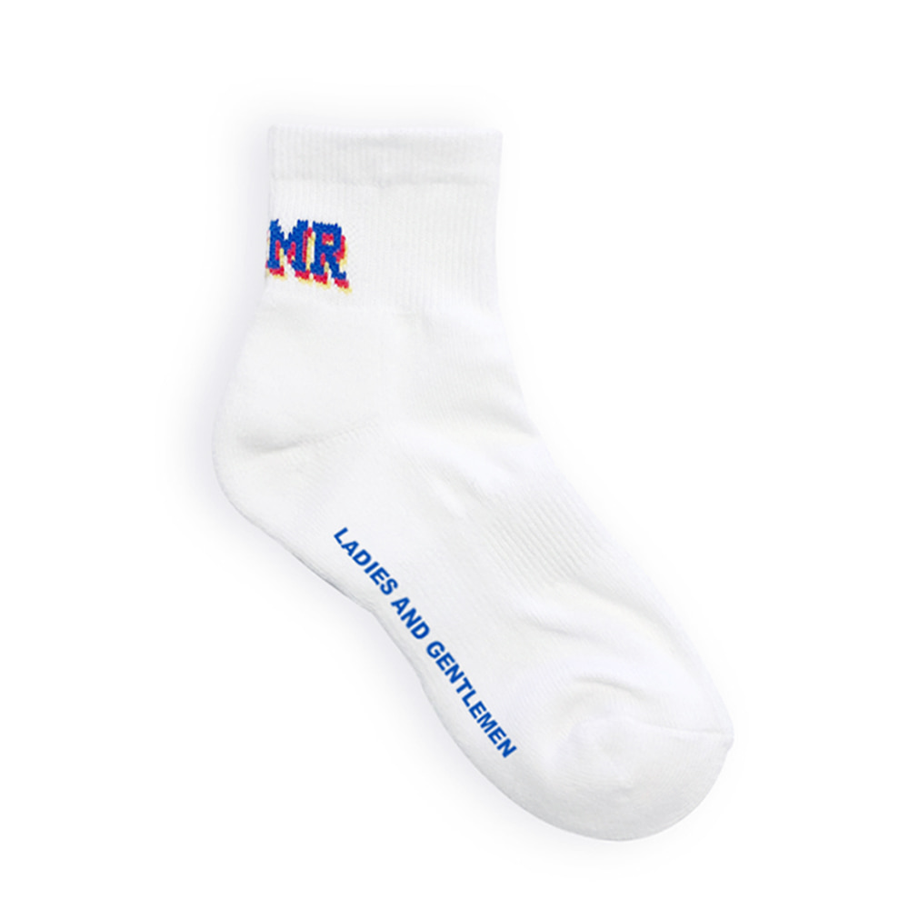 Bit Logo Socks White