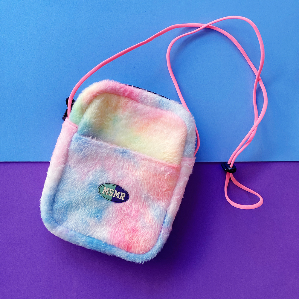 Cotton Candy Fleece Cross Bag Pink